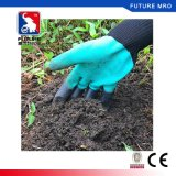2017 nuevos guantes del jardín con las yemas del dedo protegidas con las garras para cavar y plantar impermeable