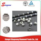 Estacionaria alambre del diamante vio el corte de granito de mármol del bloque