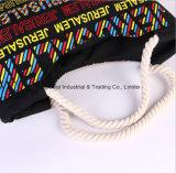 Variété portative de sacs à main de sac de plage de Miansheng de sac de toile estampée par lettre de mode de sac d'épaule