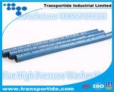 Boyau bleu à haute pression de rondelle de pression de pouvoir de couleur avec 3000psi, 4000psi, 6000psi