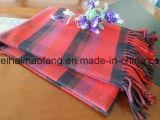 編まれた小切手の純粋な綿のピクニック毛布