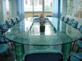 Vidro geado decorativo da arte de Morden para vidro Tempered do café/de tabela de jantar