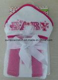 刺繍が付いている赤ん坊のフード付きタオル