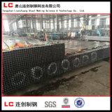 Tubo/tubo comunes de la sección de la depresión del negro de carbón para el edificio de la estructura