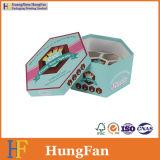 Коробка упаковки бумажного подарка шестиугольника упаковывая для пирожнй конфеты шоколада