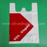HDPE подгонял мешок тельняшки печатание для ходить по магазинам в супермаркете