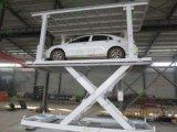 O estacionamento do equipamento de elevação automática da plataforma dupla