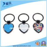 Anello portachiavi in bianco Heart-Shaped di sublimazione dei regali di promozione