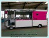 Ce UL ISO CEE des chariots de vente de rue de l'acier remorque de la vente de rue