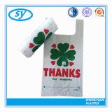Sac à provisions en plastique fait sur commande de T-shirt de supermarché de PE sur le roulis pour des achats