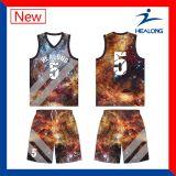 Fazer seus próprios jogos da camisola das camisas do basquetebol do Sublimation projetar