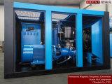 Compresor de aire rotatorio de enfriamiento del tornillo de la lubricación del aerosol del petróleo del ventilador del viento