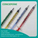 1ml 1cc a coloré la seringue de glissade de Luer pour industriel