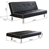 Sofà moderno del salone con la base di sofà d'angolo di cuoio del cuoio del sofà