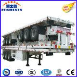 Tráiler de superficie plana de 40 pies para el transporte de contenedores de 40 pies Hq camión remolque semi