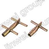 プレキャストコンクリートのアクセサリ(M16X100)の十字穴の持ち上がる挿入