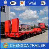 Des niedrigen /Tri-Axles-niedriger Bett-Schlussteil-LKW Bett-Sattelschleppers der Förderung-60ton
