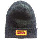 方法によって刺繍される縞で飾られた編むウールの帽子(S-1064)