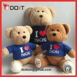 Eu amo o urso feito-à-medida da peluche do presente de Sourvnir do urso da peluche de Macau