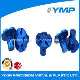 Los tornillos de aluminio anodizado azul de precisión con la venta caliente