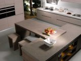 PVCキャビネットドア(zc-063)が付いている台所家具のメラミン食器棚