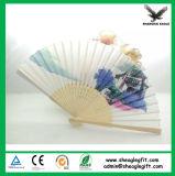 Favores de la boda de papel plegable de la mano Helf Ventilador con bambú costilla