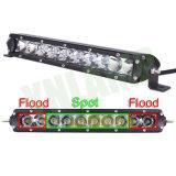 De Vlek van CREE LEDs 50W 11.2inch/de LEIDENE van de Straal van de Vloed Enige Lichte Staaf van de Rij