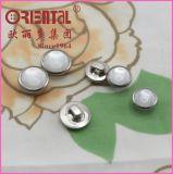 Tasto di camicia di alluminio bianco della tibia della perla