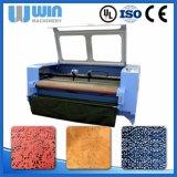 Máquina de estaca dobro de matéria têxtil do laser do CNC da cabeça de Lm1610d