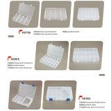 防水組み込みコンパートメントプラスチックふたの釣り道具ボックス