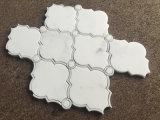 자연적인 돌 동양 백색 대리석 큰 손전등 패턴 물 분출 모자이크 타일