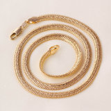 Collar de la serpiente del oro plateado de la joyería de la manera
