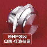 Onpow 19mm Drukknop Switch (GQ19SH-10/J/S, Ce, CCC, RoHS, REECH)