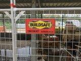 2100mm x 2400 временно панелей загородки с стальными панелями загородки Temp подписи