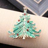 クリスマスツリーの水晶ブローチピン新しい方法緑によって艶をかけられる花束の宝石類の木様式の魅力のブローチのクリスマスのギフト