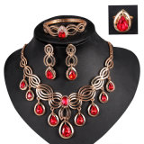 Insieme dei monili degli anelli dei braccialetti degli orecchini delle collane della lega di modo