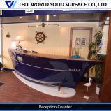 病院のボートの形のフロントデスクのレセプションのカウンターの現代ボートの形のフロント