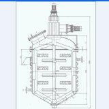 Jackted reactor de acero inoxidable utilizado en la industria química