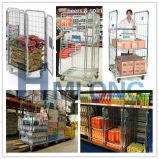 Foldable金属の洗濯の/Supermarketロール容器