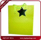 Gekopiertes Einkaufstasche-förderndes Geschenk sackt Kraftpapier-Einkaufen-Beutel ein