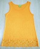 Frauen-Sleeveless Rayon-Kleid-Form-Spitze-Kleidung
