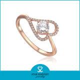 Новый дизайн настоящего Серебряное кольцо ювелирные изделия в наличии на складе (R-0008)