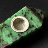 Tubulação de fumo material natural de fumo da tubulação da mão do Morganite da tubulação da mão