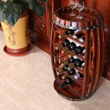 De donkerrode Kratten van het Rek van de Doos van het Vat Houten voor de Vertoning van de Opslag van de Wijn