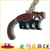 Peu de chaîne principale en métal animal de souvenir de zoo de forme de panda