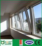 Vuelta de aluminio Windows de la inclinación con la doble vidriera (PNOCTT02)
