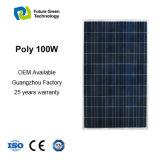 panneau solaire de système de l'alimentation 100W solaire poly