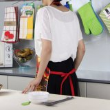 [أوربل] أسود شريط مطبخ ويطبخ مئزر لأنّ نساء ورجال