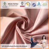 tela del satén del Spandex 30d*30d+30d para el camisón y la ropa interior lisos