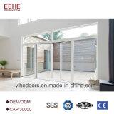Burletes de entrada de la puerta de vidrio de la puerta de la hoja de aluminio con doble